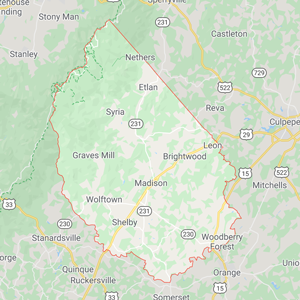 Madison County Virginia map