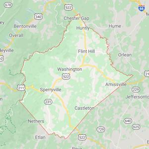 Rappahannock County Map